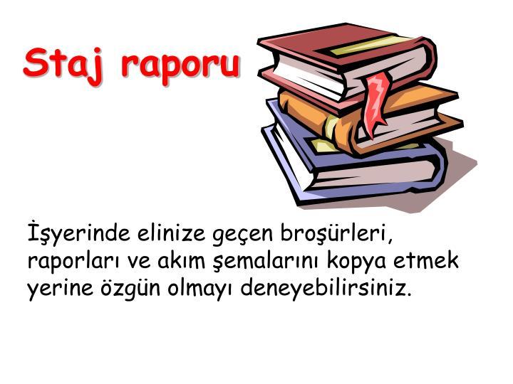 Staj raporu