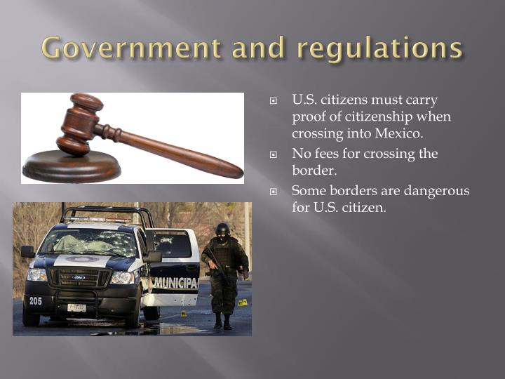 Government and regulations