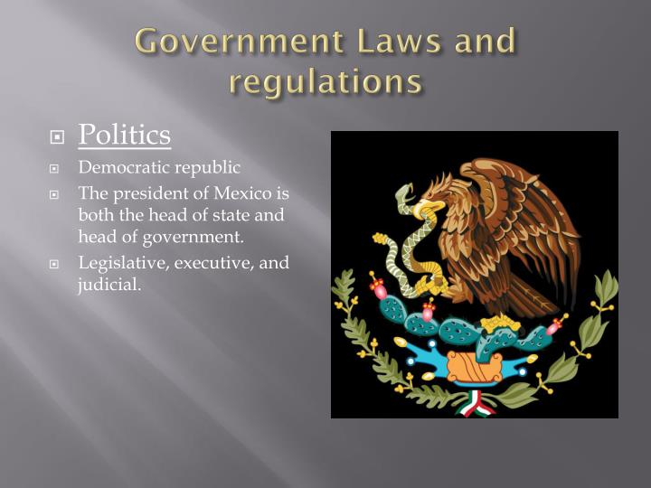 Government Laws and regulations