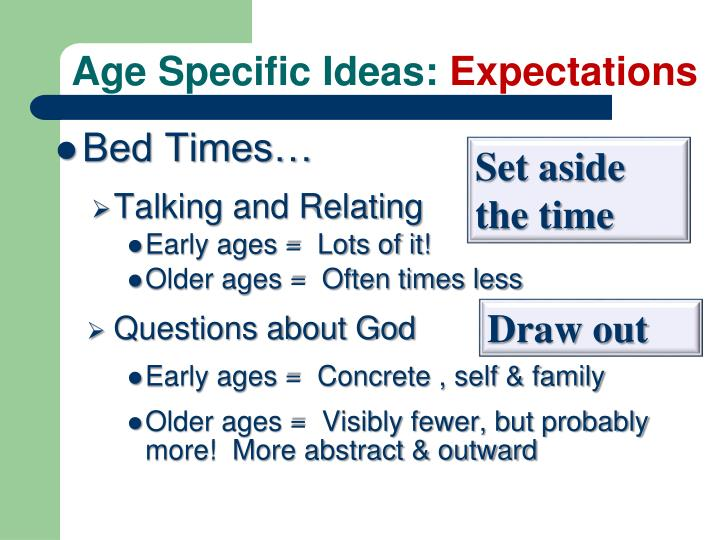 Age Specific Ideas: