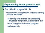 experiencing god s power love2