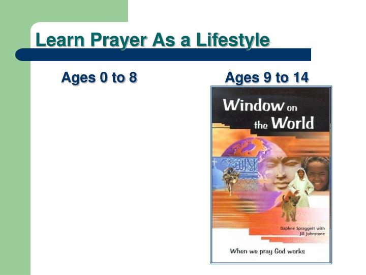 Learn Prayer As a Lifestyle