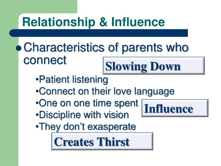 Relationship & Influence