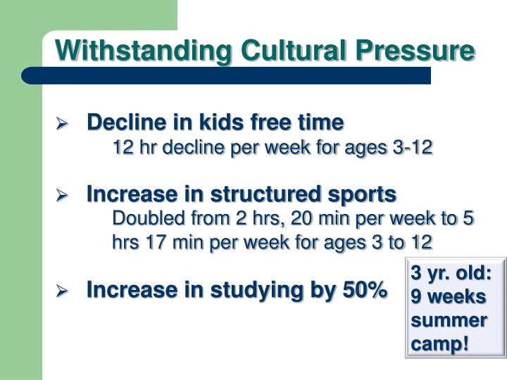 Decline in kids free time