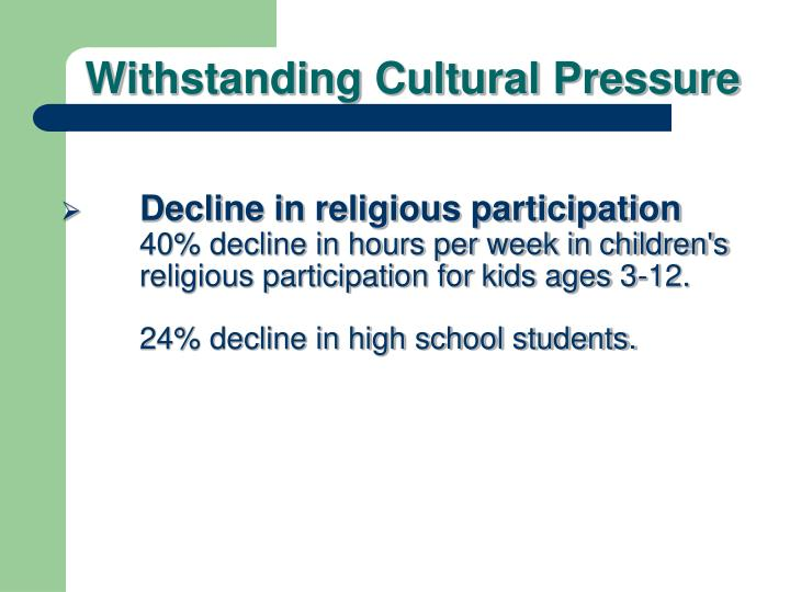 Decline in religious participation