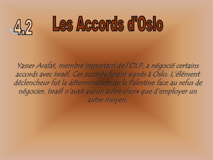 Les Accords d'Oslo