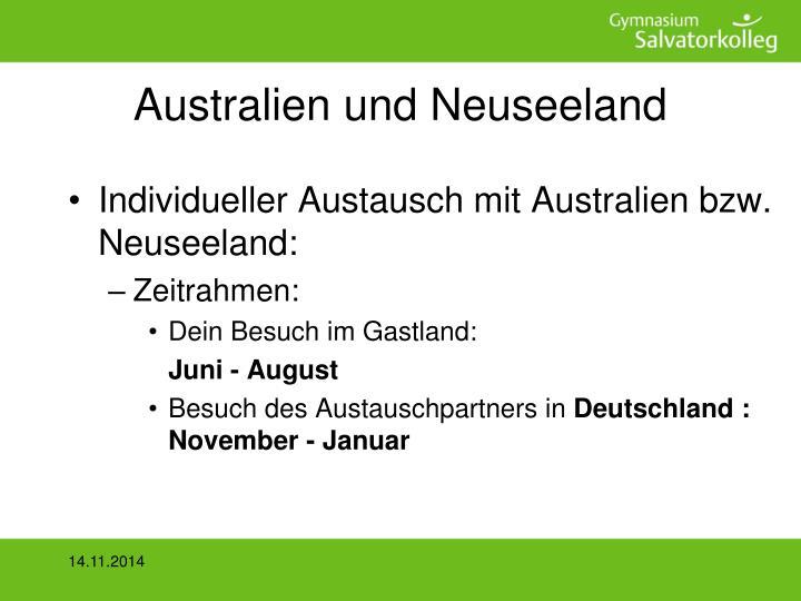 Australien und Neuseeland