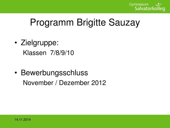 Programm Brigitte Sauzay