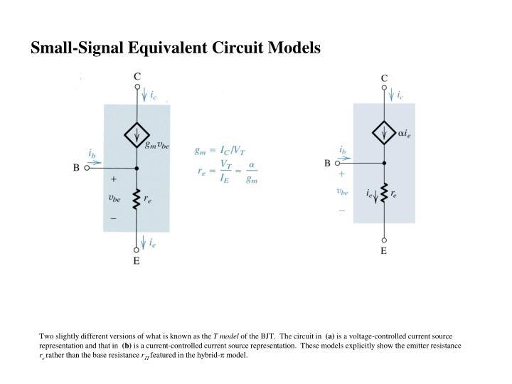 Small-Signal Equivalent Circuit Models
