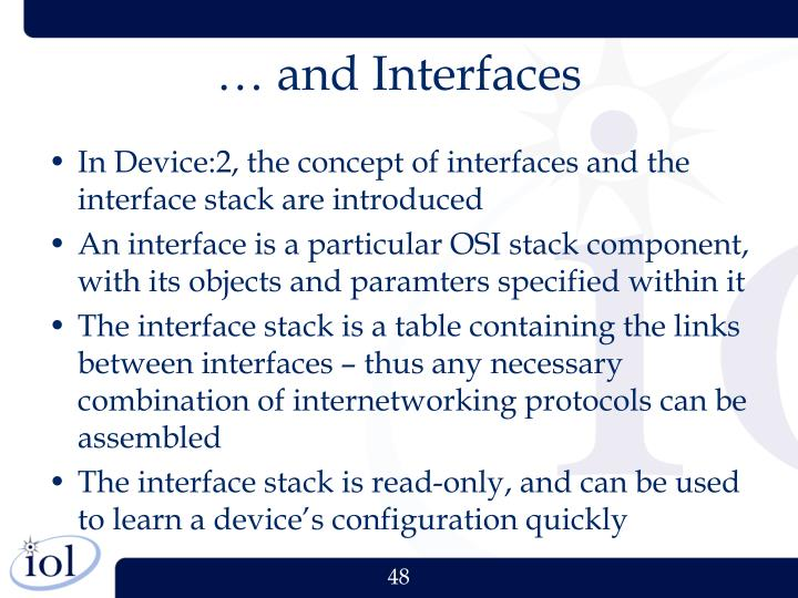… and Interfaces