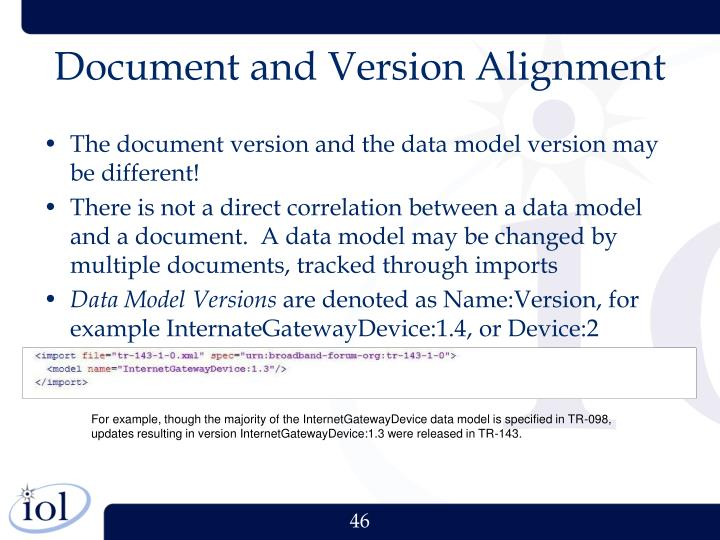 Document and Version Alignment