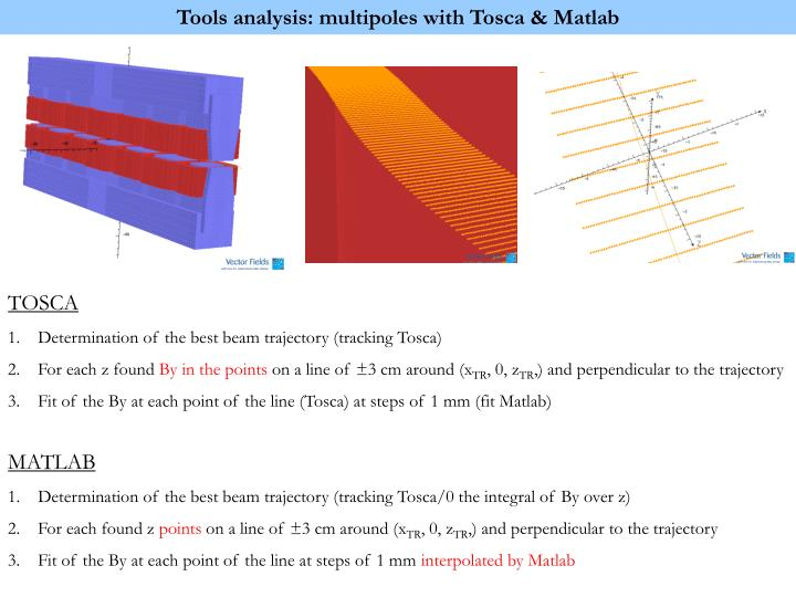 Tools analysis: multipoles with Tosca & Matlab