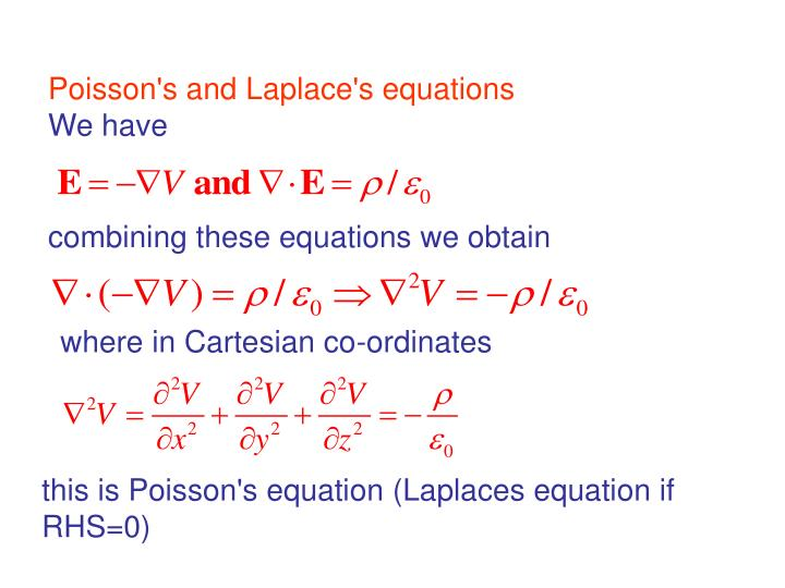 Poisson's and Laplace's equations