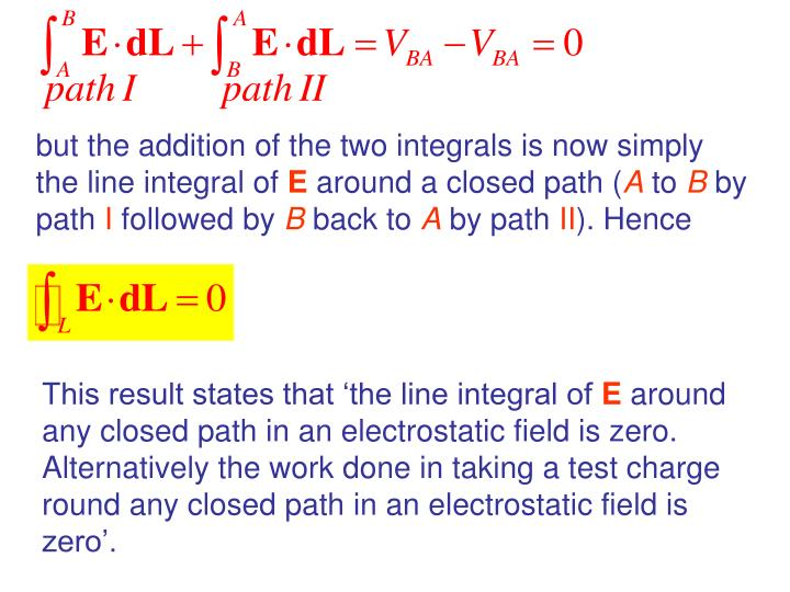 but the addition of the two integrals is now simply the line integral of