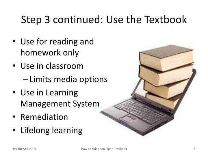Step 3 continued: Use the Textbook
