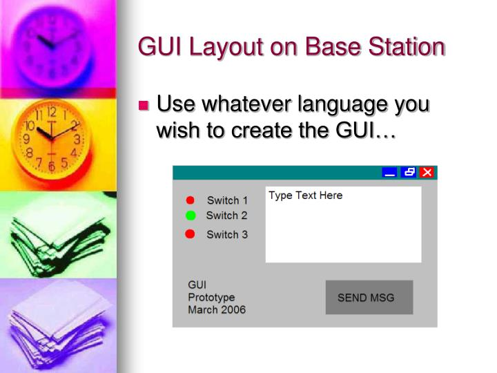 GUI Layout on Base Station