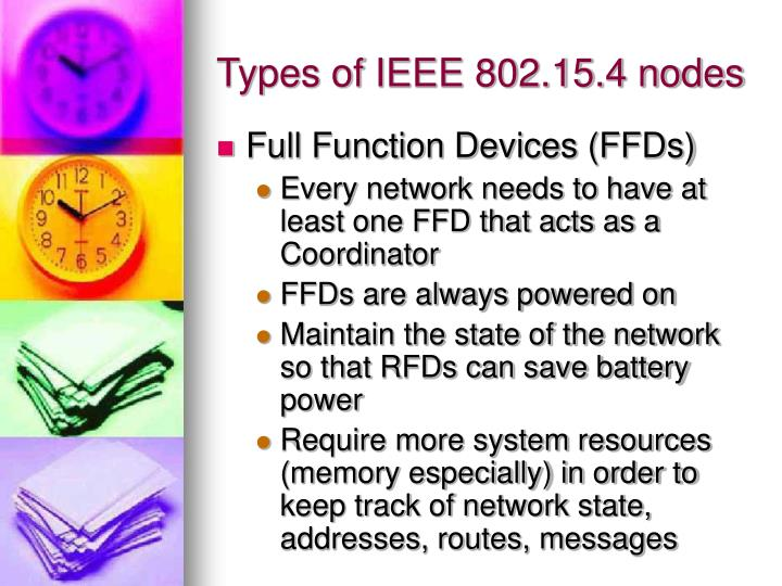 Types of IEEE 802.15.4 nodes