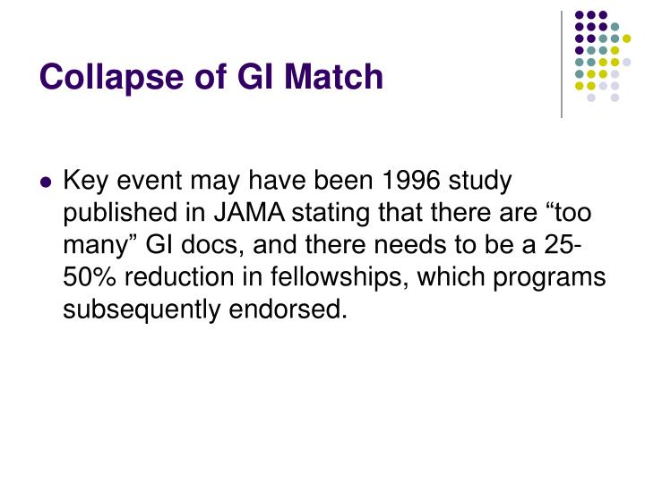Collapse of GI Match