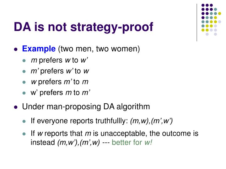 DA is not strategy-proof