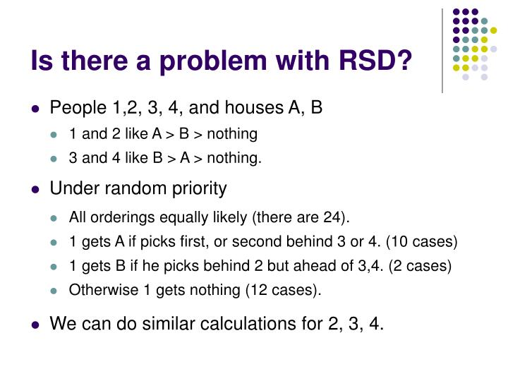 Is there a problem with RSD?