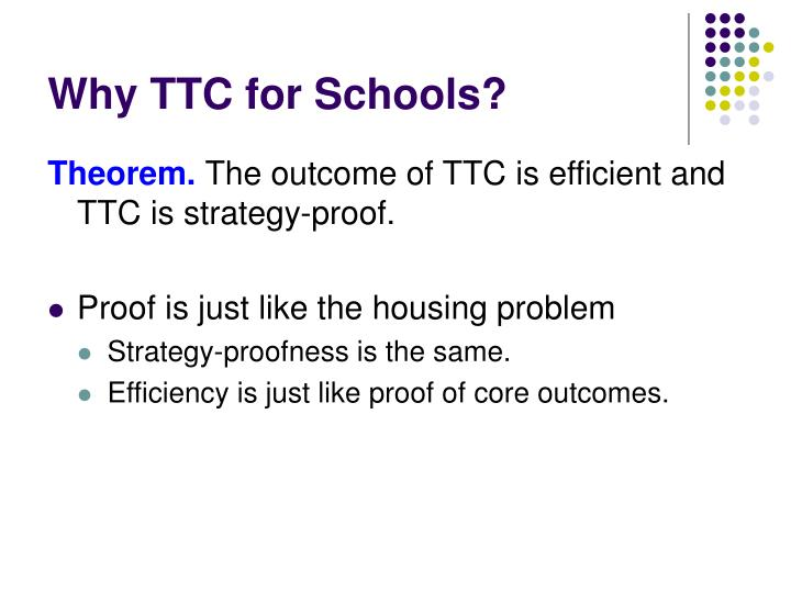 Why TTC for Schools?