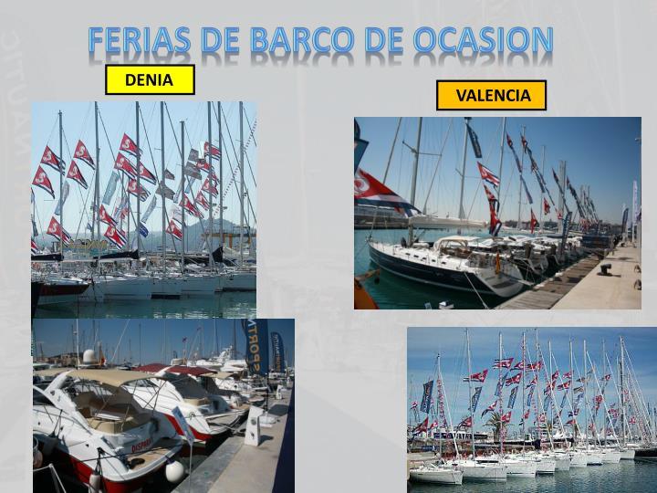 FERIAS DE BARCO DE OCASION
