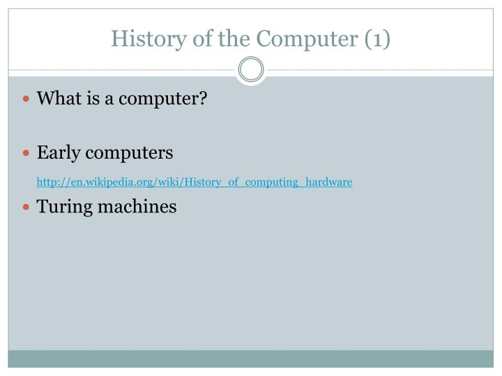 History of the Computer (1)