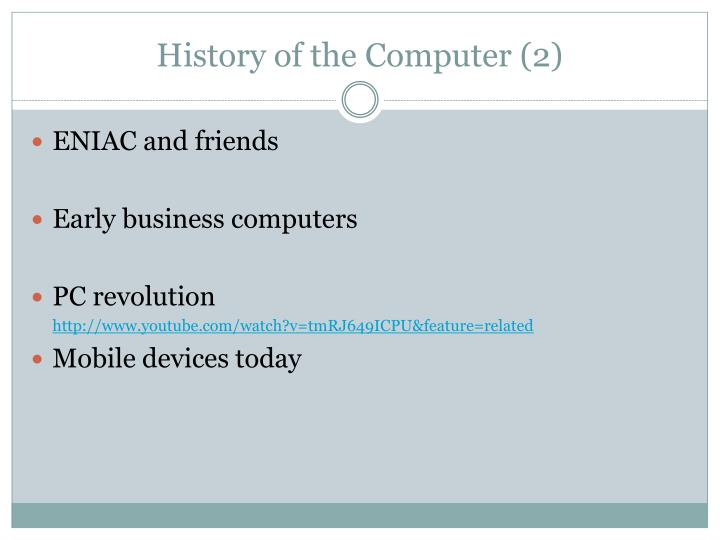 History of the Computer (2)
