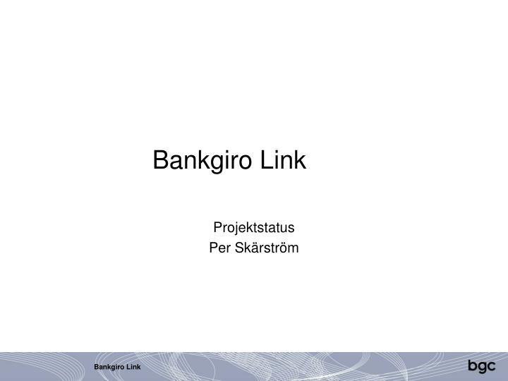 Bankgiro Link
