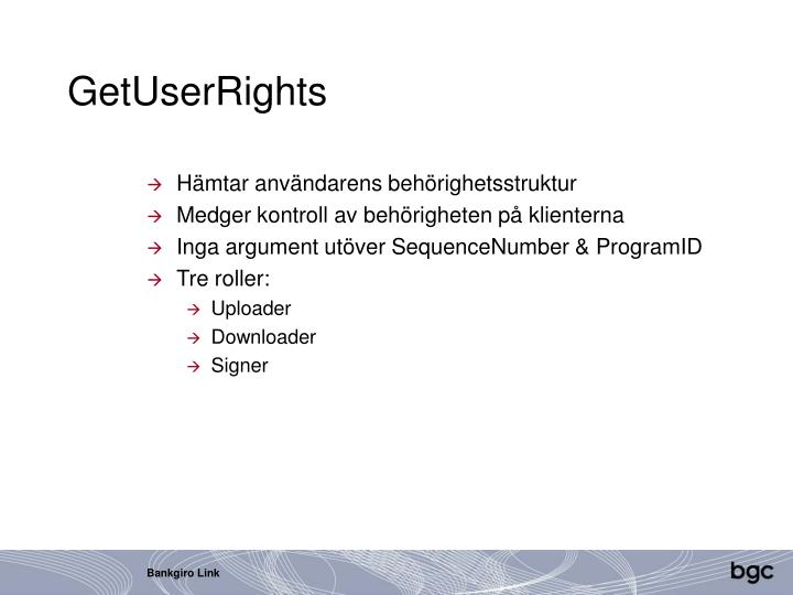 GetUserRights