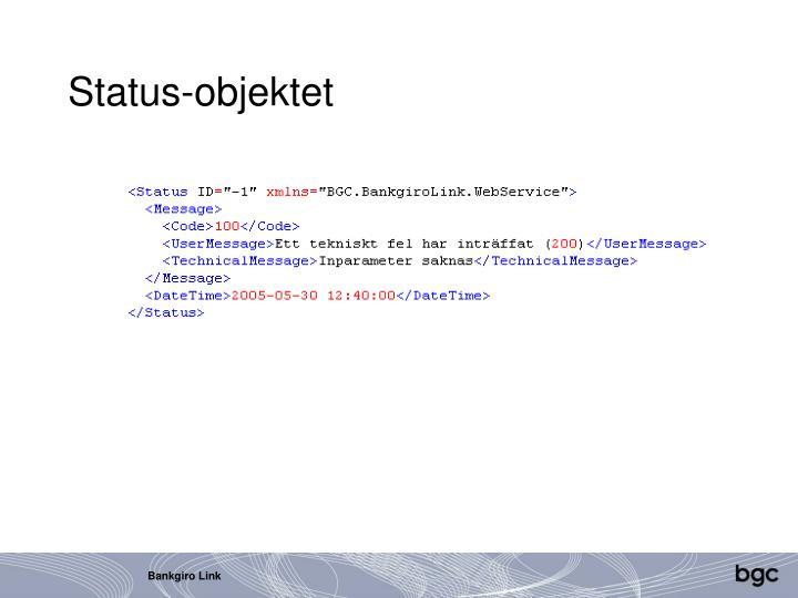 Status-objektet