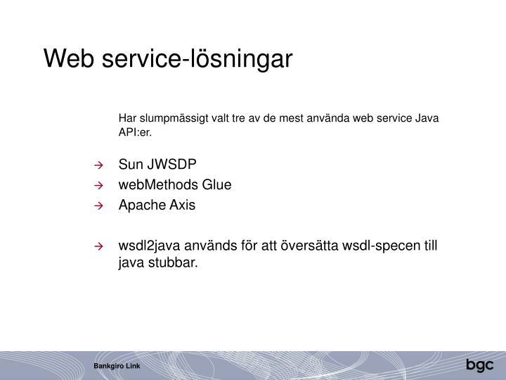 Web service-lösningar
