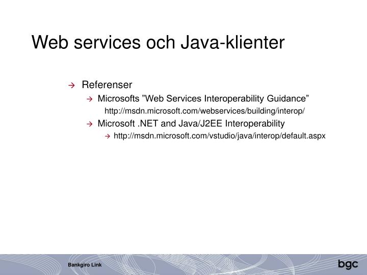 Web services och Java-klienter