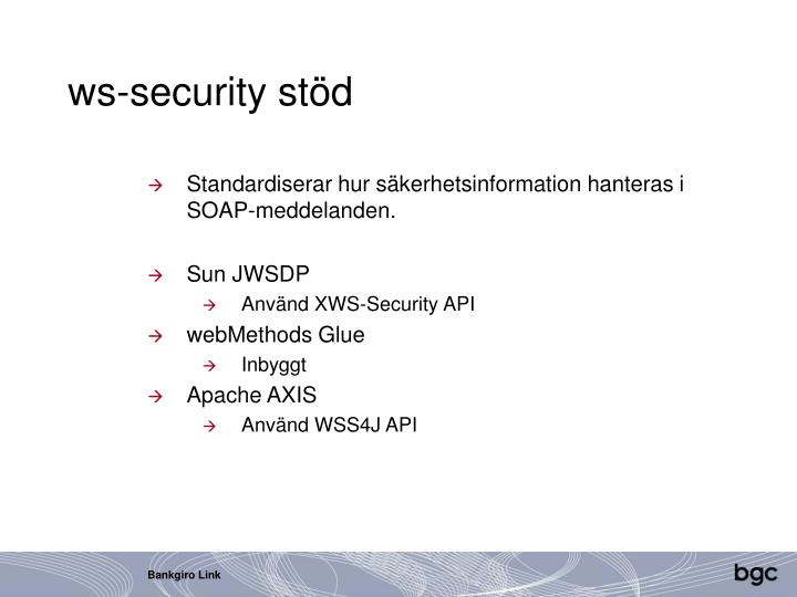 ws-security stöd