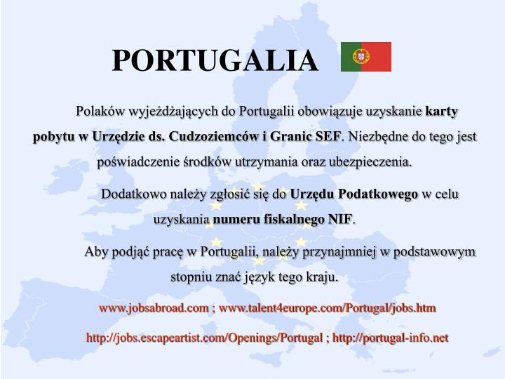 Polaków wyjeżdżających do Portugalii obowiązuje uzyskanie