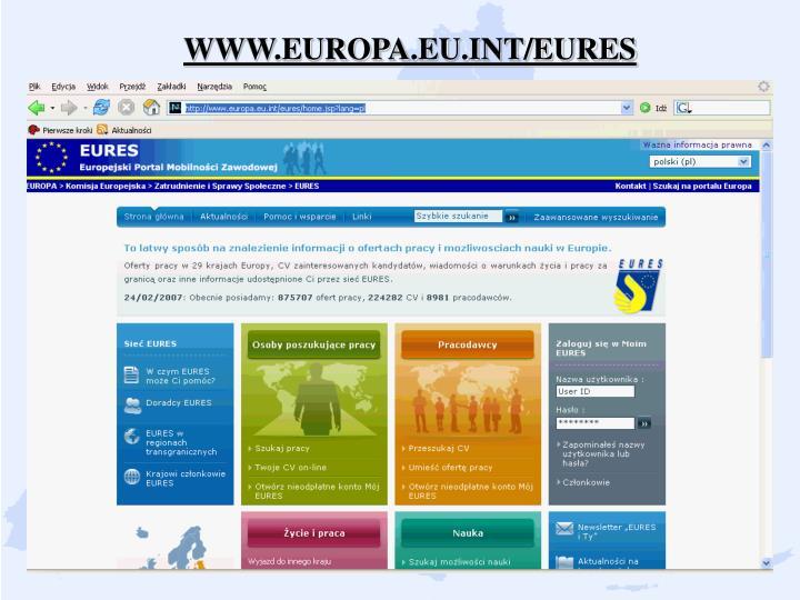 WWW.EUROPA.EU.INT/EURES