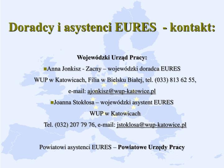Doradcy i asystenci EURES  - kontakt: