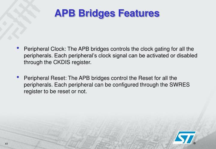 APB Bridges Features