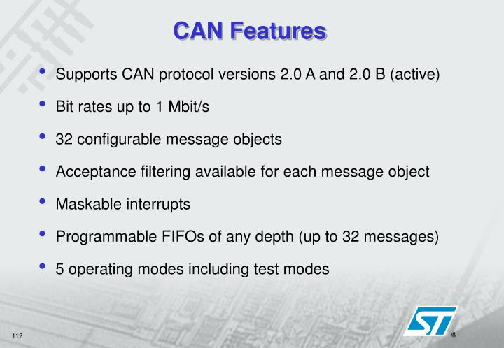 CAN Features