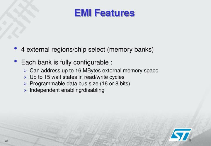 EMI Features