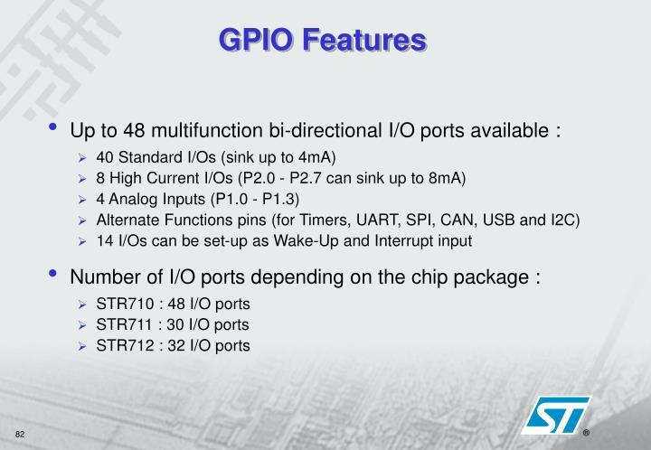 GPIO Features