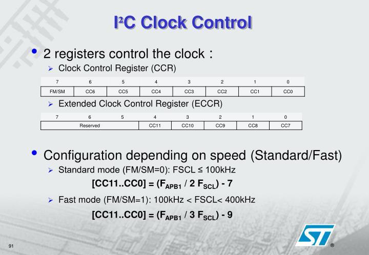 2 registers control the clock