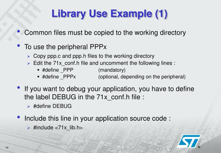 Library Use Example (1)