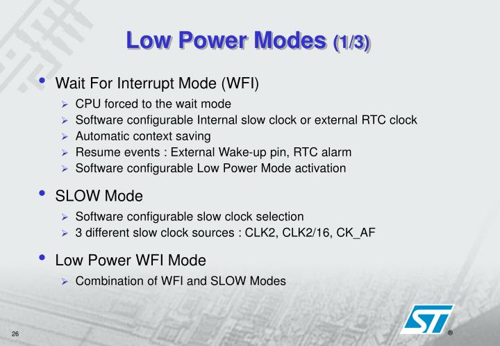 Low Power Modes