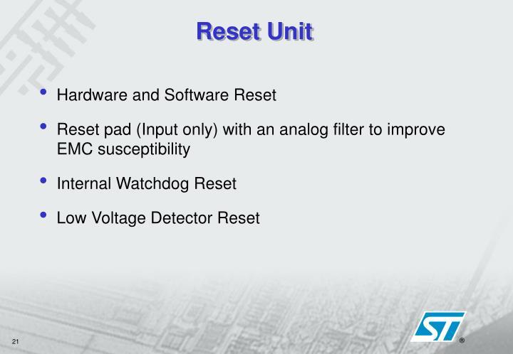Reset Unit