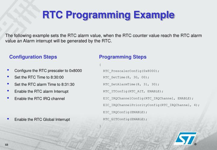 RTC Programming Example