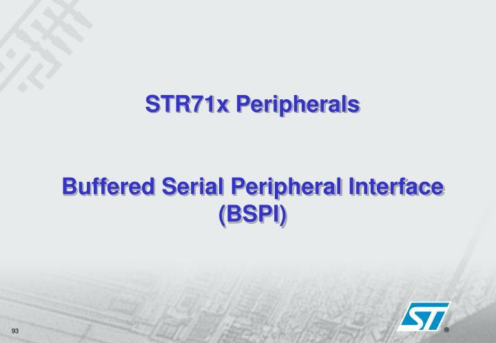 STR71x Peripherals