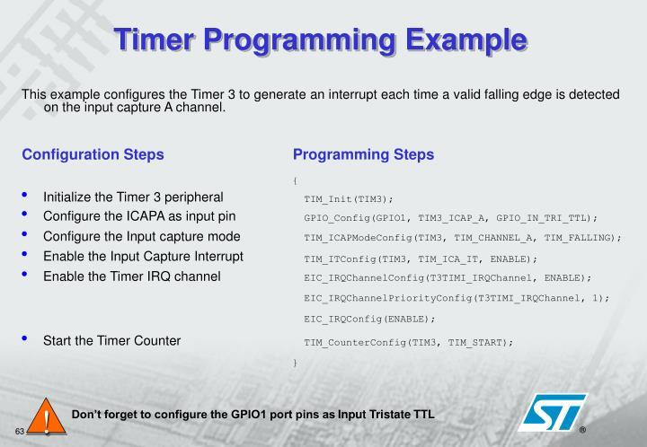 Timer Programming Example