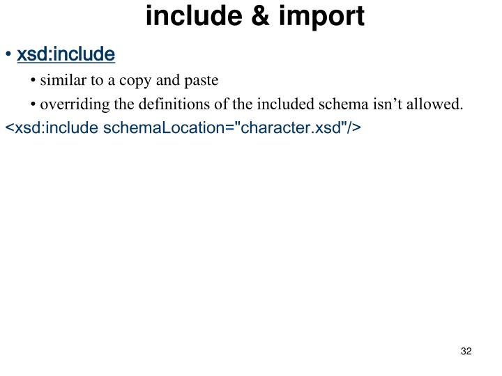 include & import