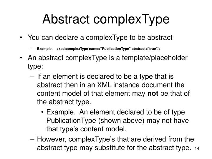 Abstract complexType